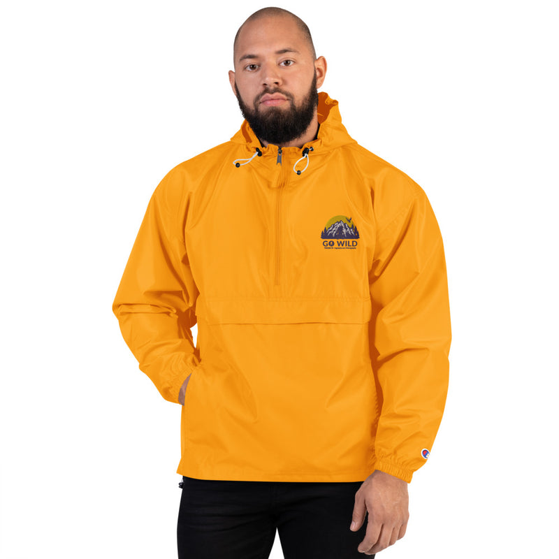 Go Wild Logo Embroidered Champion Packable Jacket - Go Wild Photography [description]  [price]