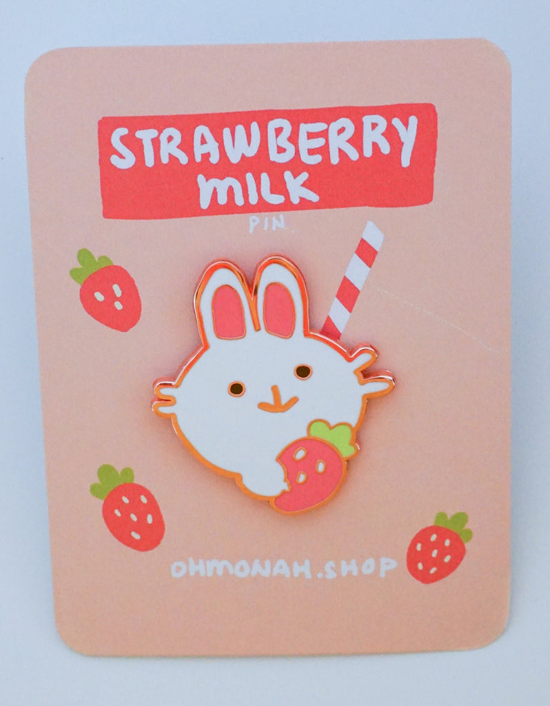 STRAWBERRY MILK Enamel Pin
