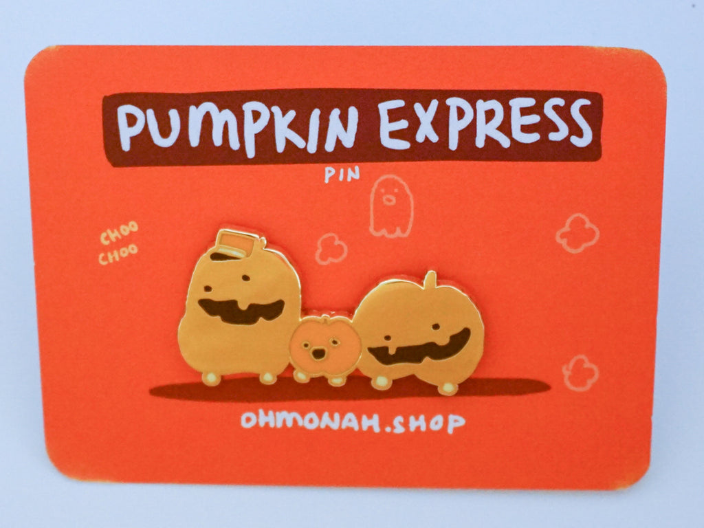 PUMPKIN EXPRESS enamel pin