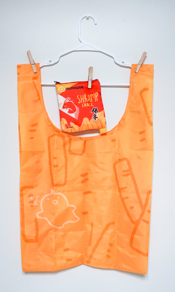 SHRIMP CRACKER reusable shopping bag