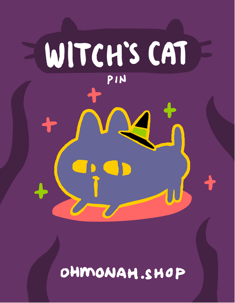 WITCH'S CAT enamel pin