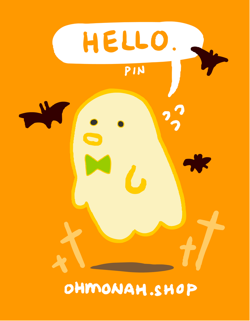HELLO GHOST Enamel Pin