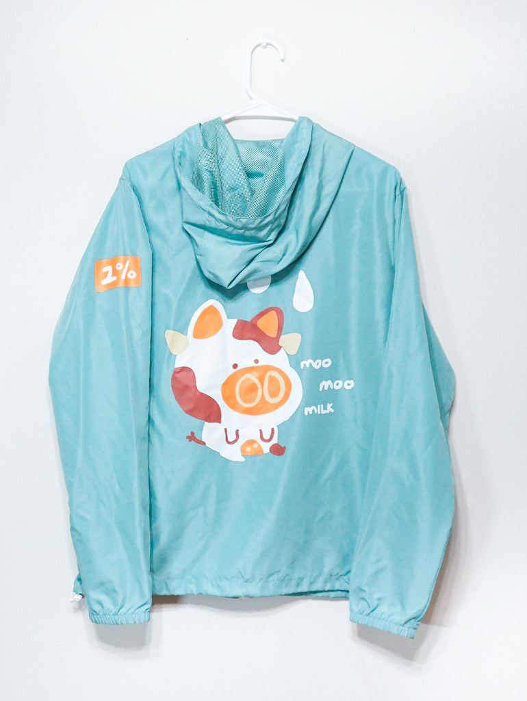 MOO MOO MILK - 2% light windbreaker jacket