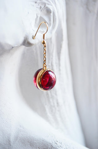 Murano Small Blown Glass Pearl Earrings