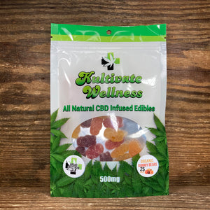 KW Broad Spectrum CBD Gummy Bears 25mg - Kultivate Wellness