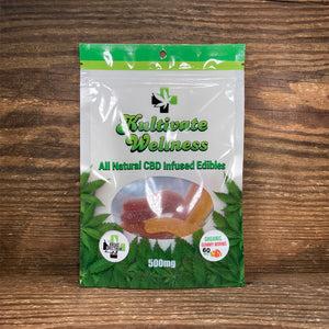 KW Broad Spectrum CBD Gummy Worms 60mg - Kultivate Wellness