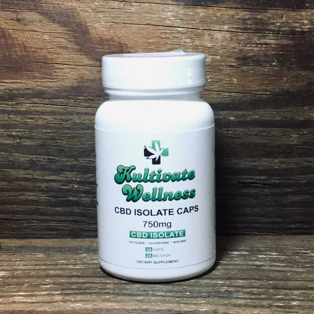 KW Isolate CBD Capsules 750mg - Kultivate Wellness