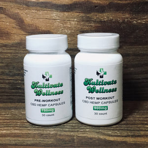 KW CBD Workout Formula Capsules - Kultivate Wellness