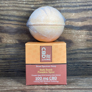 CBD Living Pumpkin Spice Bath Bomb 100mg - Kultivate Wellness