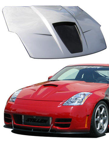 2003-2006 Nissan 350Z [Z33] Power Hood [Fiberglass Series 2] - 1035008