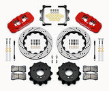Wilwood BMW 328i AERO4 Big Brake Rear Brake Kit For OE Parking Brake Red Caliper Drilled & Slotted Rotors