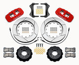 Wilwood BMW 335i AERO6 Front Big Brake Kit Red Calipers Slotted Rotors