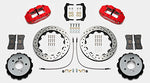 Wilwood BMW M3 Forged Narrow Superlite 4R Big Brake Rear Brake Kit For OE Parking Brake Red Caliper Drilled & Slotted Rotors
