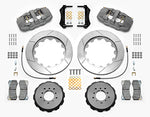 Wilwood BMW M3 AERO6 Front Big Brake Kit (Race) Black Calipers Slotted Rotors