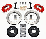 Wilwood BMW Z3 Forged Narrow Superlite 6R Front Big Brake Kit (Hat) Red Calipers Slotted Rotors