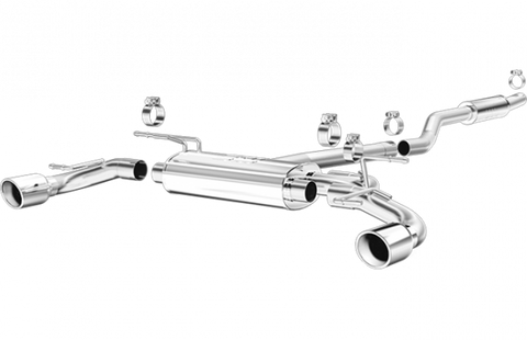2014-2018 Mazda 3 Exhaust - Sedan (2.25in Cat Back w/ 4in Dual Polished Tips) [2.0L / 2.5L] - Magnaflow 15294