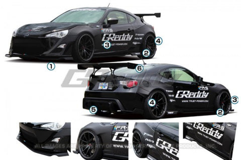 GReddy Scion FR-S Rocket Bunny V1 Full Kit w/ Wing 17010224