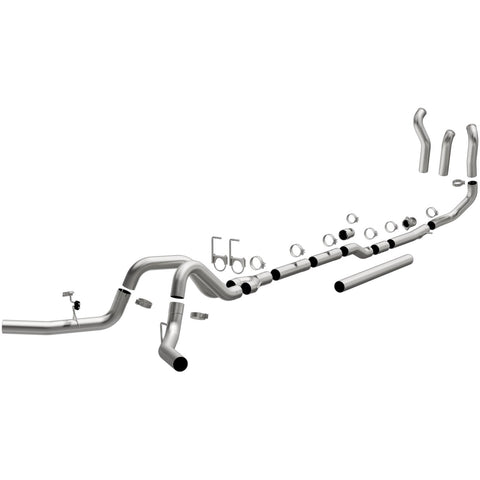 Ford F-250 Super Duty Aluminized Custom Builder Pipe Kit Diesel 4in. Turbo-Back Exhaust System Kit