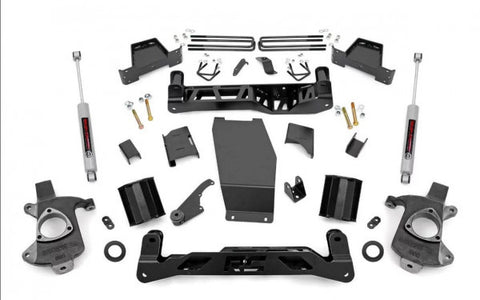 2014-2018 GMC Sierra/ Chevrolet Silverado Lift Kit - 4WD 1500 (FCSCA Models) N3 Shocks [7in] - 228.20