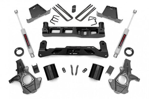 2014-2018 GMC Sierra/ Chevrolet Silverado Lift Kit - 2WD (Factory Cast Steel Control Arm Models) N3 Shocks [7.5in] - 23730