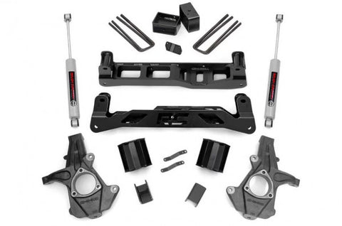 2014-2018 GMC Sierra/ Chevrolet Silverado Lift Kit - 2WD 1500 (Factory Cast Steel Control Arm Models) N3 Shocks [5in] - 247.20