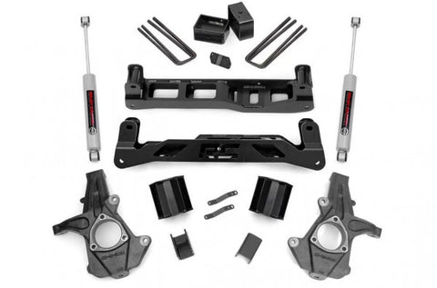 2014-2018 GMC Sierra/ Chevrolet Silverado Lift Kit - 2WD 1500 (FCSCA Models) N3 Shocks [5in] - 247.23