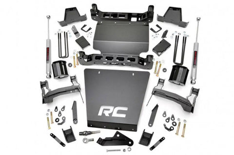 2014-2018 GMC Sierra/ Chevrolet Silverado Lift Kit - 4WD 1500 (FCA Models) N2 Struts & N3 Shocks [7in] - 298.23