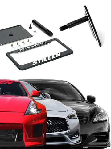 Infiniti G37, Q40, Q60 / Nissan 370Z [Z34] (Excludes Nismo) No Drill License Plate Relocator - 105465