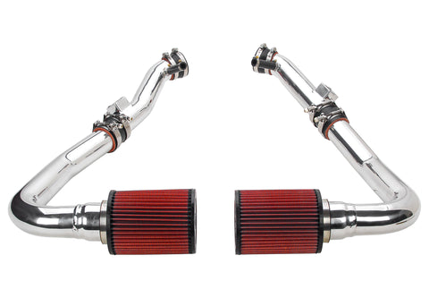 2009-2019 Nissan 370Z - STILLEN Dual Hi Flow Ultra Long Tube Air Intake (Gen 3) [Z34] - Dry Filter - 402852DF