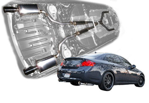 2007-2008 Infiniti G35 Sedan - Stainless Steel Cat-Back Exhaust System - 504375