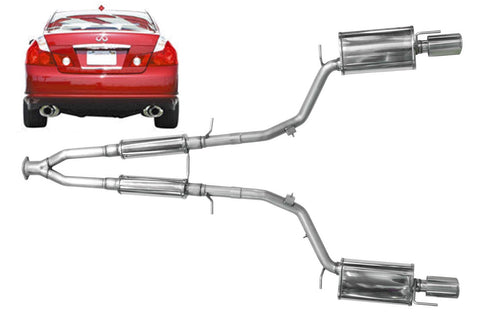 2006-2010 Infiniti M45 Stainless Steel Near Cat-Back Exhaust System - 504445
