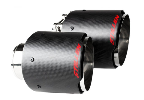 STILLEN Carbon Fiber Exhaust Tips - CF01