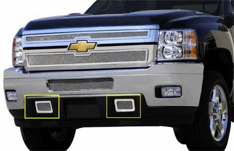 T-Rex Upper Class Polished Stainless Mesh Grille - Tow Hook Bumper Grille 55115