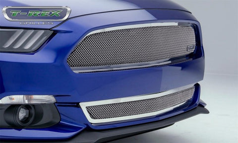 T-Rex Ford Mustang GT Upper Class Series Bumper Grille - Polished 55530