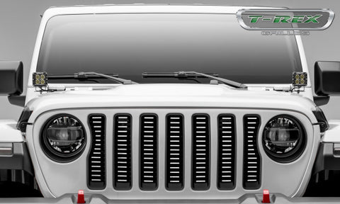 2018-2019 Jeep Wrangler Billet Grille Insert - Raw Aluminum (Brushed Finish) - 6204933