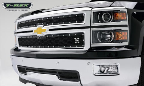 T-Rex 2014 Chevy Silverado 1500 X-Metal Main Grille - Black Powdercoated 6711211