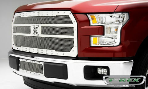 T-Rex Ford F-150 X-Metal Bumper Grille - Polished 6725730