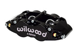 Wilwood BMW M3 Forged Narrow Superlite 4R Big Brake Rear Brake Kit For OE Parking Brake Black Calipers Drilled & Slotted Rotors
