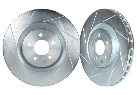 1986-1991 Mazda RX7 Front Slotted 1-Piece Sport Rotors (Set of 2) - MAZ1100S