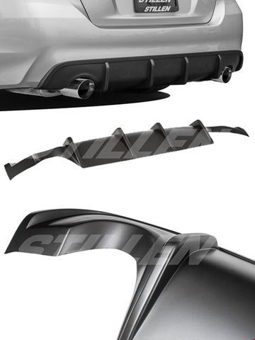2016-2018 Nissan Altima Rear Diffuser [Matte Black] - KB13158MB
