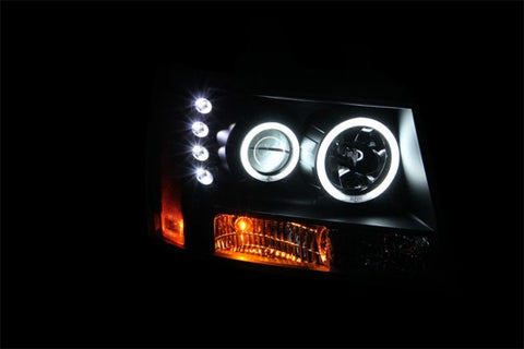Anzo Headlights - Black w/ Amber Reflectors 111109 ANZO111109