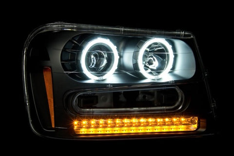 Anzo Headlights - Black 111127 ANZO111127