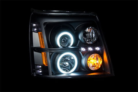 Anzo Headlights - Black w/ Amber Reflectors 111142 ANZO111142