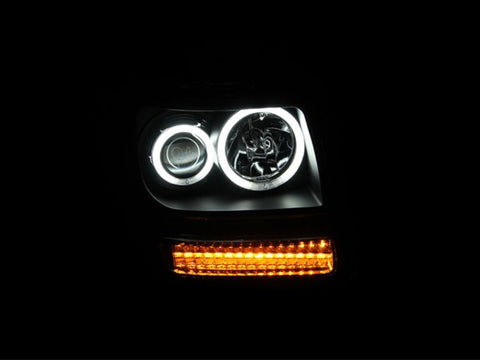 Anzo Headlights - Black w/ Amber Reflectors 111145 ANZO111145
