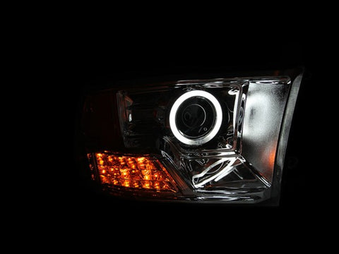 Anzo Headlights - Chrome w/Amber Reflectors 111160 ANZO111160