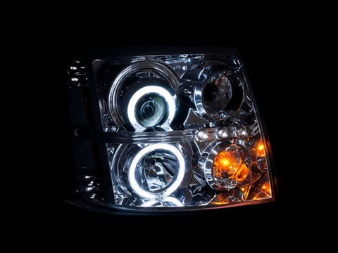 Anzo Headlights - Chrome w/Amber Reflectors 111176 ANZO111176