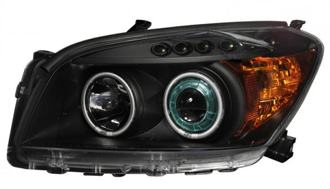 Anzo Headlights - Black w/ Amber Reflectors 111181 ANZO111181