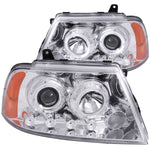 Anzo Headlights - Chrome w/ Amber Reflectors 111244 ANZO111244