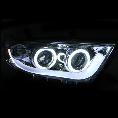Anzo Headlights - Chrome w/ Amber Reflectors 111261 ANZO111261
