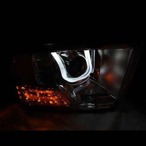 Anzo Headlights - Black w/ Amber Reflectors 111270 ANZO111270